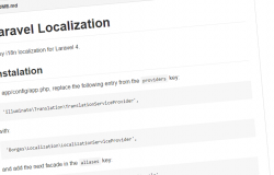 Laravel Localization Package