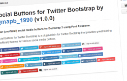 Social Buttons for Twitter Bootstrap
